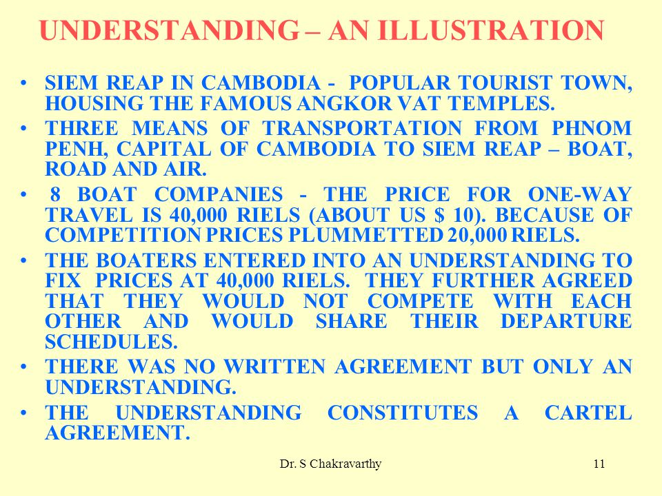 Dr. S Chakravarthy11 UNDERSTANDING – AN ILLUSTRATION SIEM REAP IN CAMBODIA - POPULAR TOURIST TOWN, HOUSING THE FAMOUS ANGKOR VAT TEMPLES. THREE MEANS