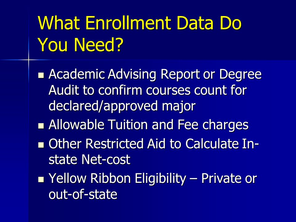 What Enrollment Data Do You Need.