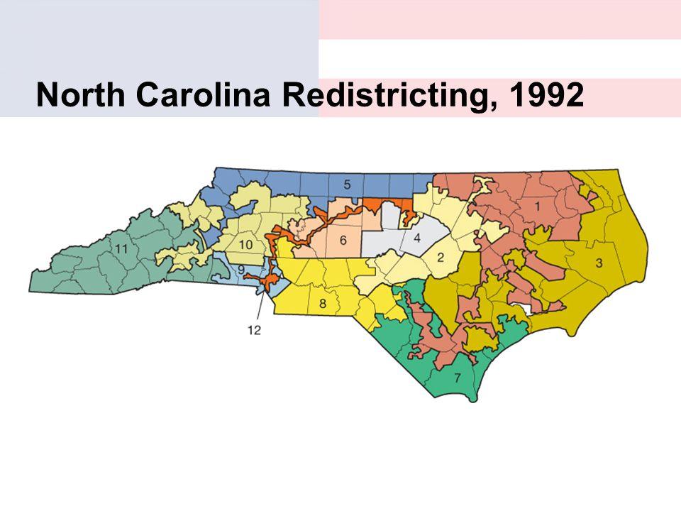 North Carolina Redistricting, 1992