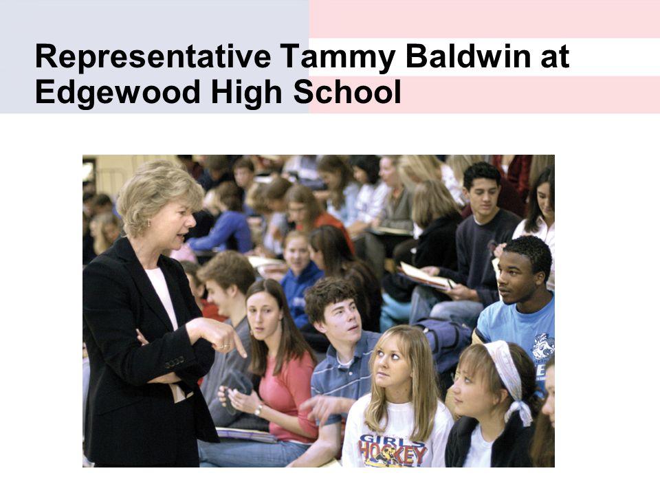 Representative Tammy Baldwin at Edgewood High School