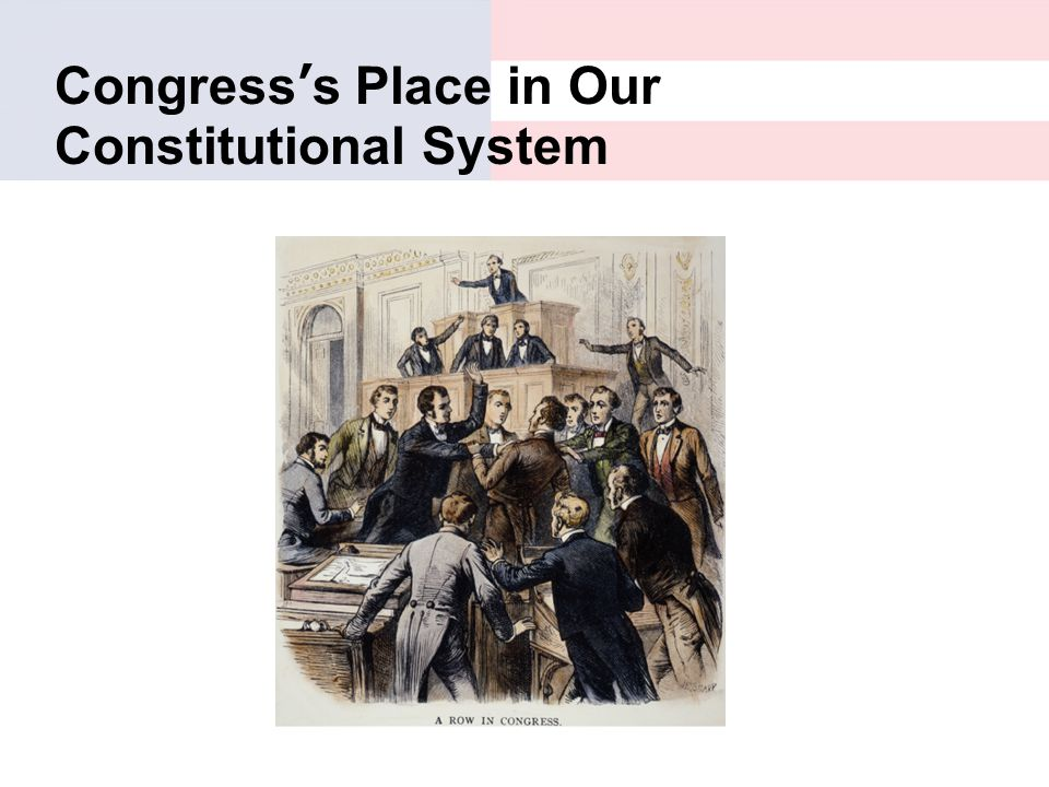 Congress's Place in Our Constitutional System