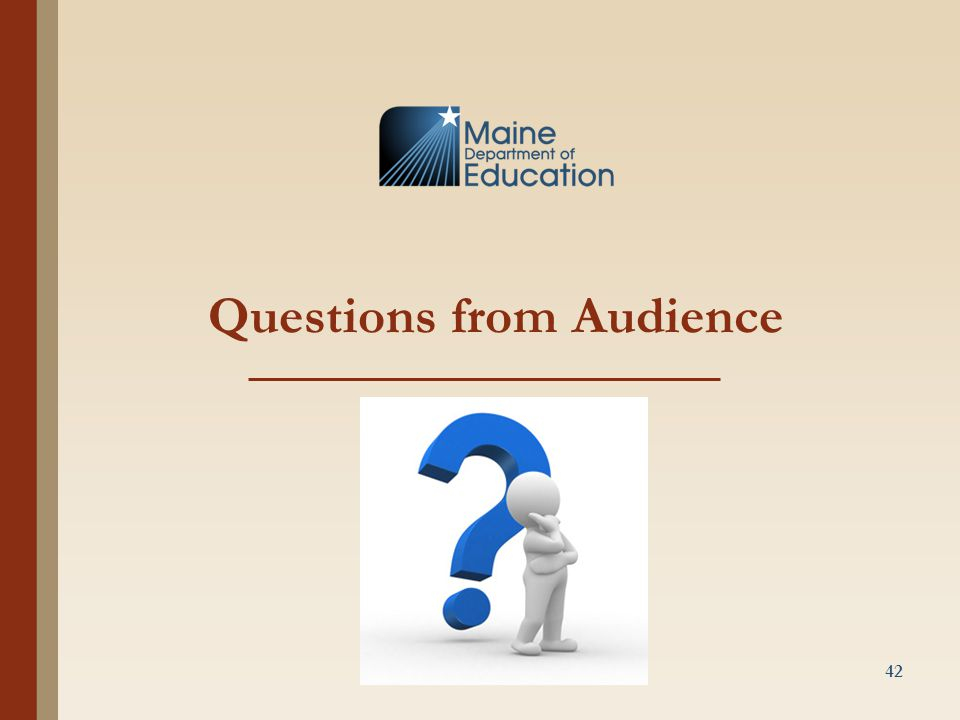 Questions from Audience 42