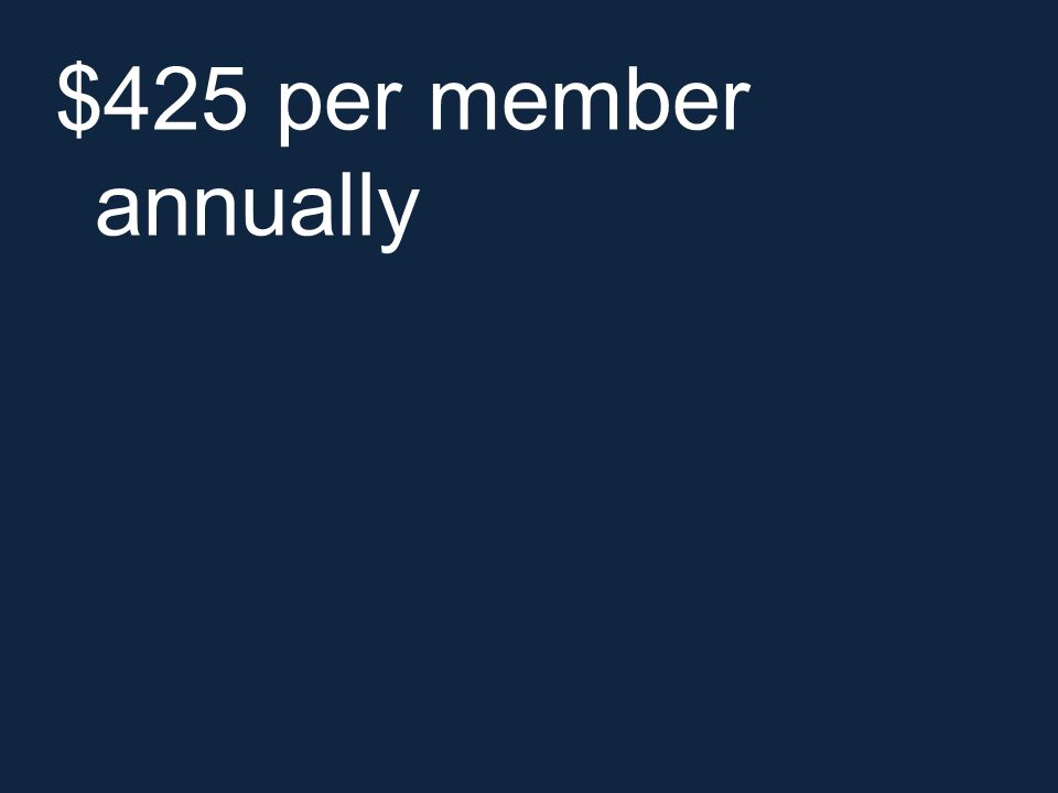 $425 per member annually