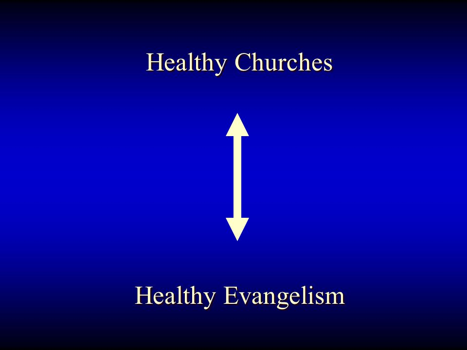Healthy Churches Healthy Evangelism Healthy Churches Healthy Evangelism