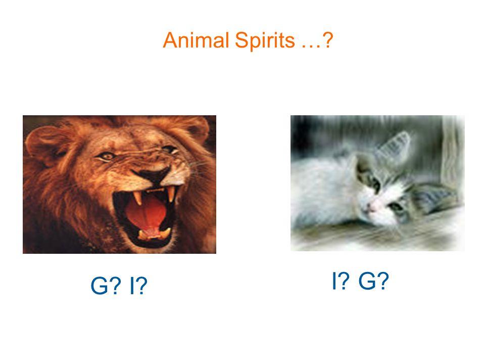 Animal Spirits …? G? I? I? G?