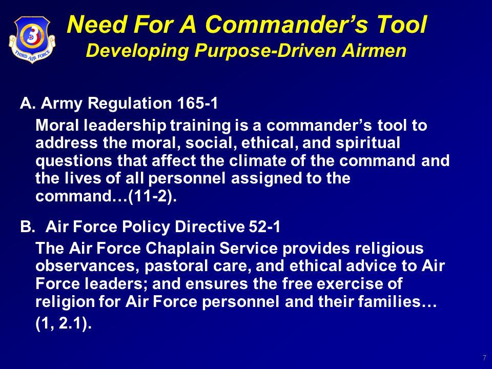 8 Developing Purpose-Driven Airmen Dr.