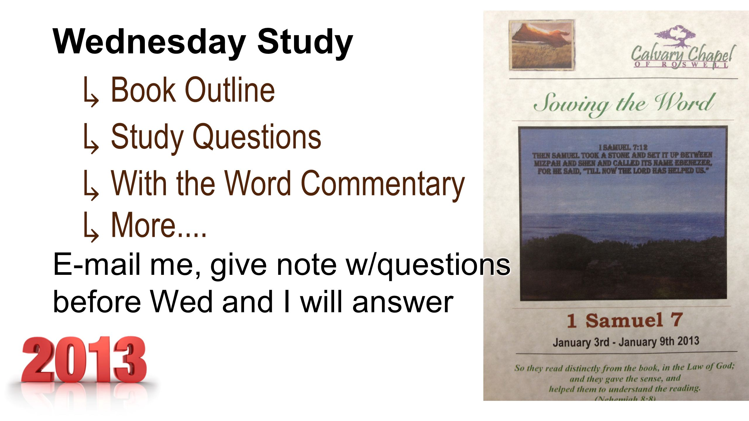 ↳ Book Outline ↳ Study Questions ↳ With the Word Commentary ↳ More....