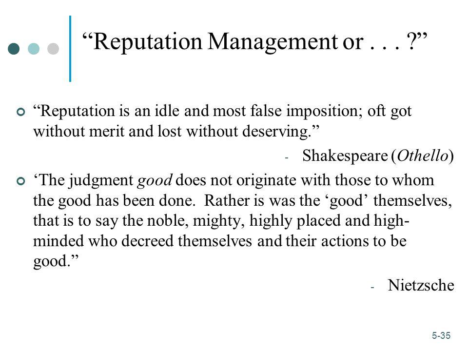 1-35 5-35 Reputation Management or...