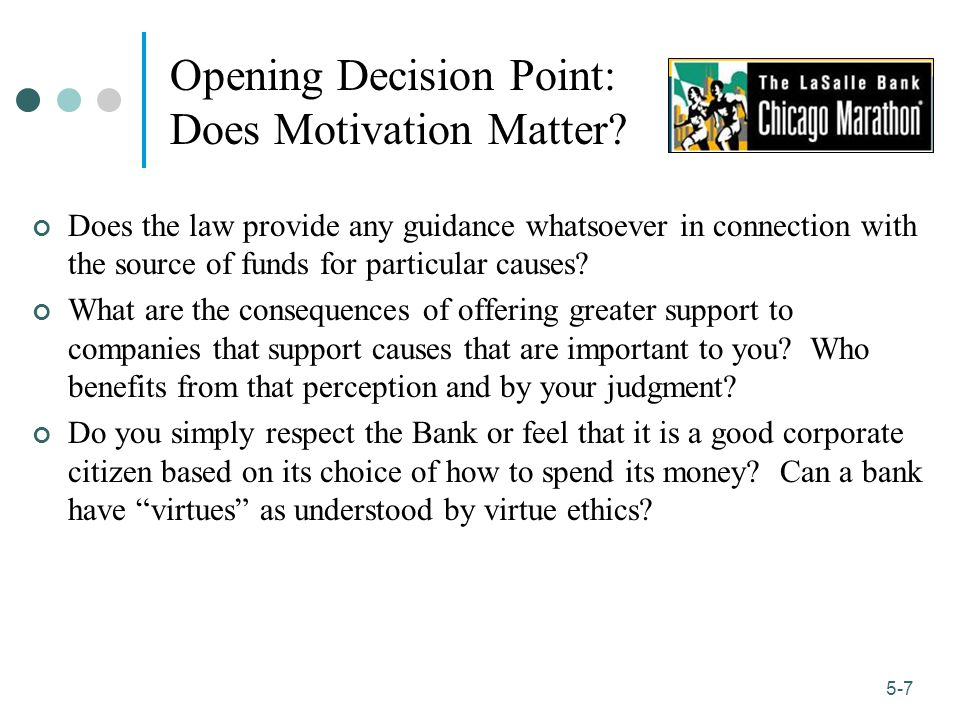 1-7 5-7 Opening Decision Point: Does Motivation Matter.