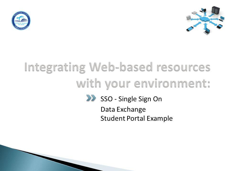 SSO - Single Sign On Data Exchange Student Portal Example 7