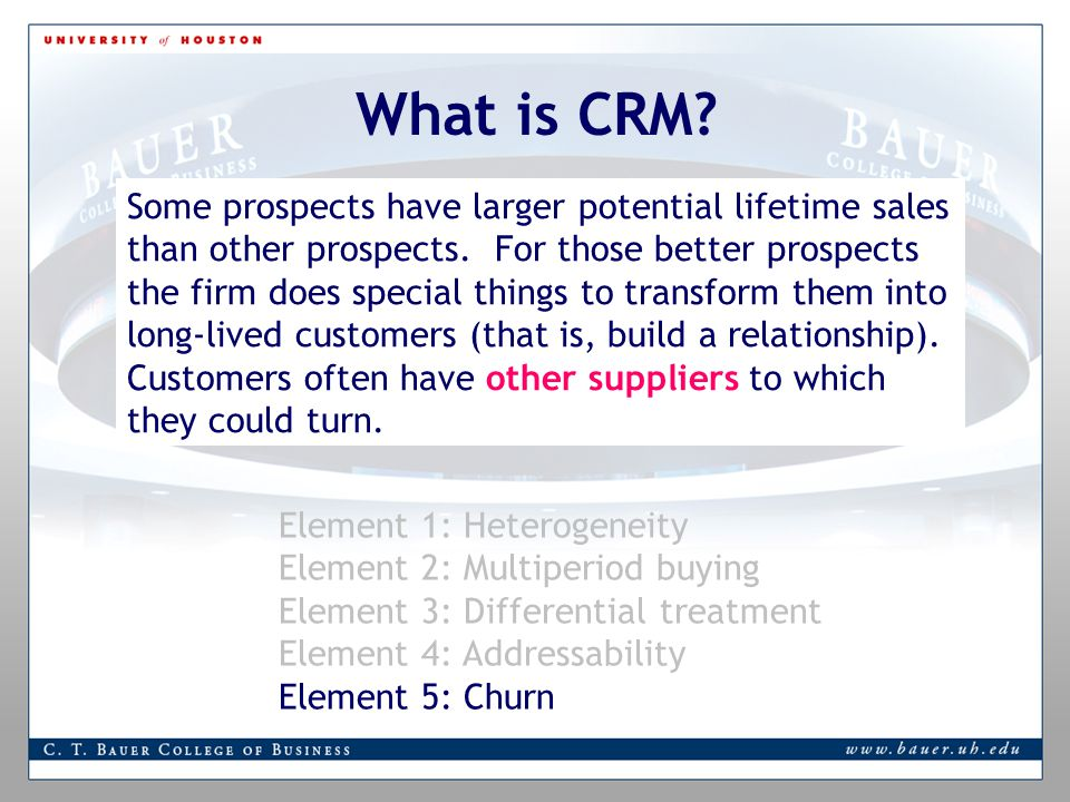Some prospects have larger potential lifetime sales than other prospects.