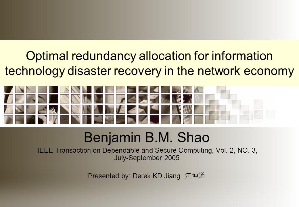The redundancy allocation problem (RAP) is formulated below