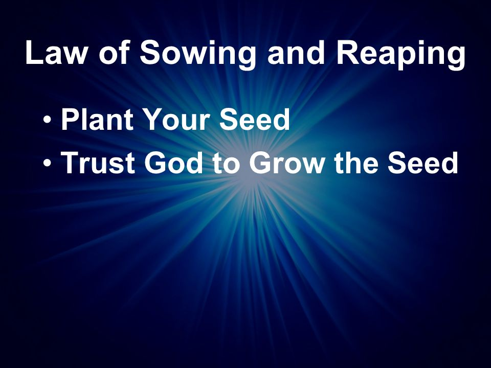Mark 4:26-28 (NIV) This is what the kingdom of God is like: A man scatters seed on the ground.