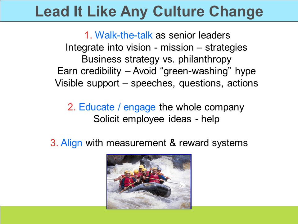 Lead It Like Any Culture Change 1.