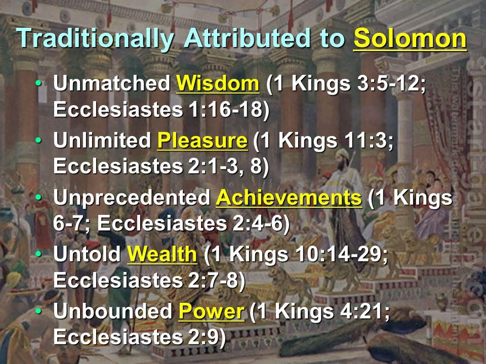 The Extent of Solomon s Reign