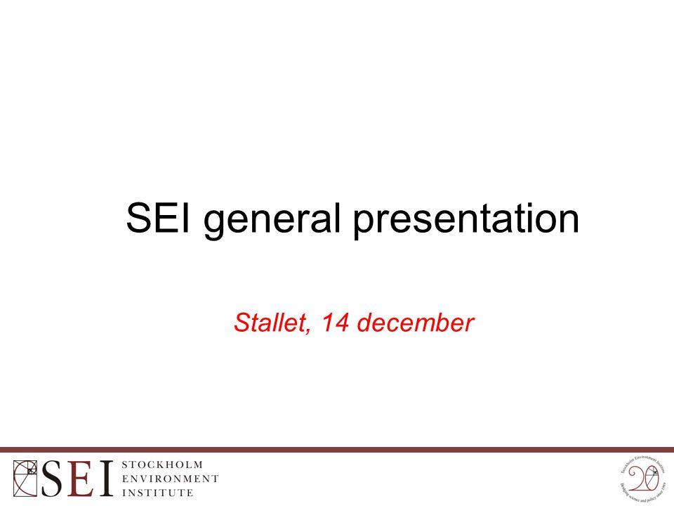 SEI general presentation Stallet, 14 december