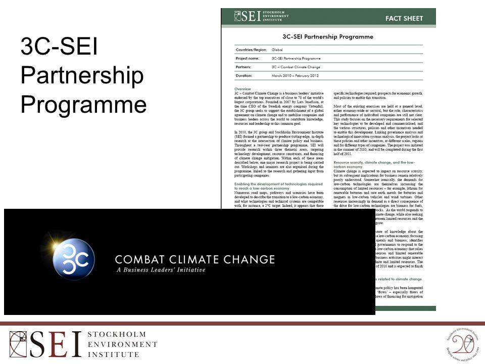 3C-SEI Partnership Programme