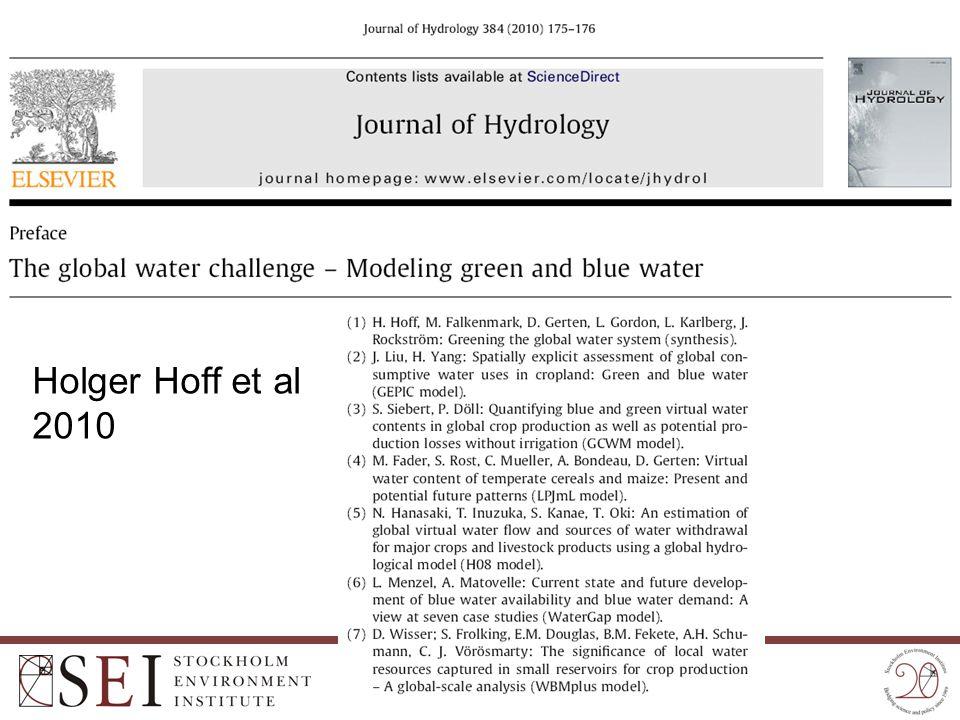 Holger Hoff et al 2010
