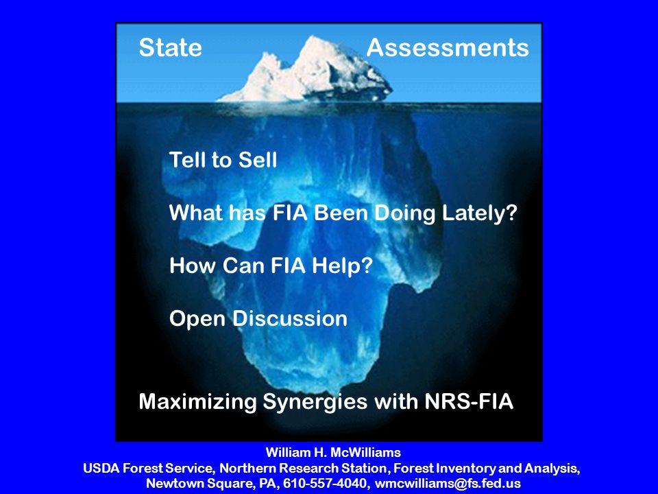 Maximizing Synergies with NRS-FIA AssessmentsState Tell to Sell What has FIA Been Doing Lately.