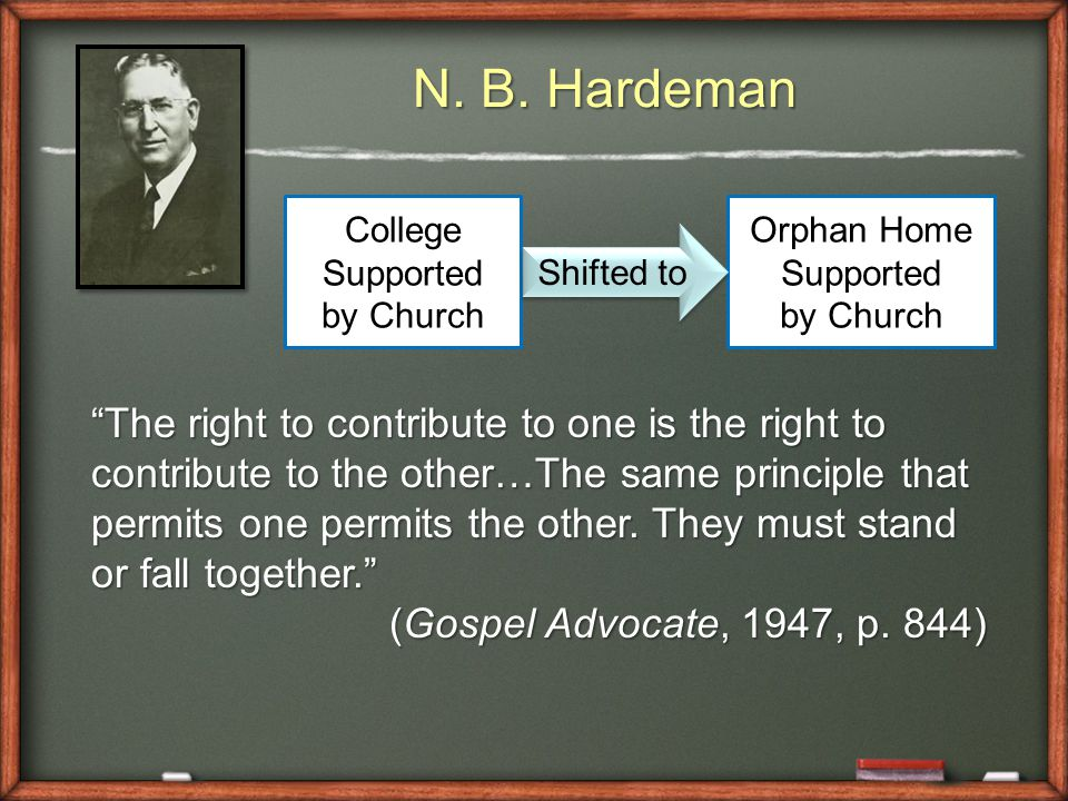 "N. B. Hardeman ""The right to contribute to one is the right to contribute to the other…The same principle that permits one permits the other. They mus"
