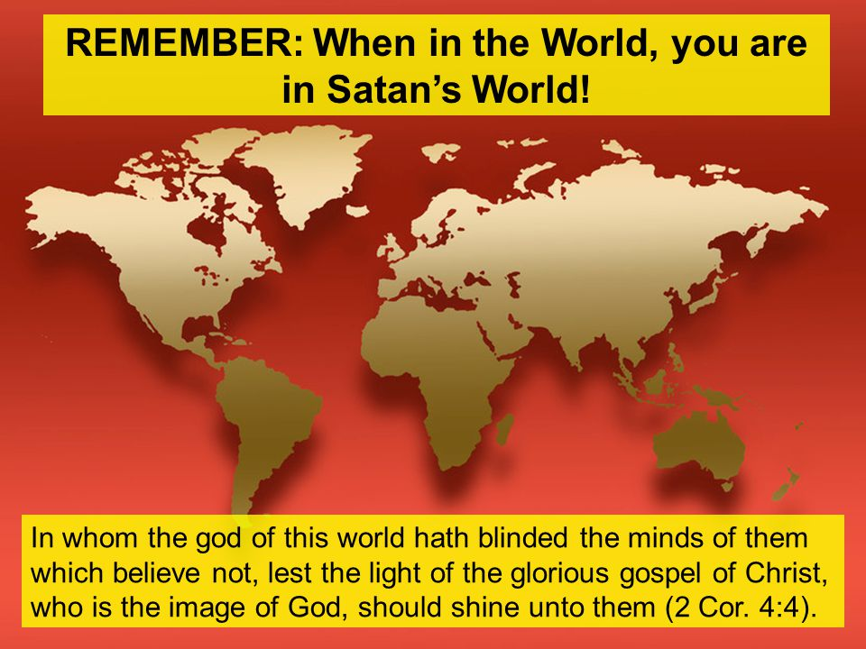Realize Possibility of Falling (1 Cor.10:12) Discern Between Good & Evil (Heb.