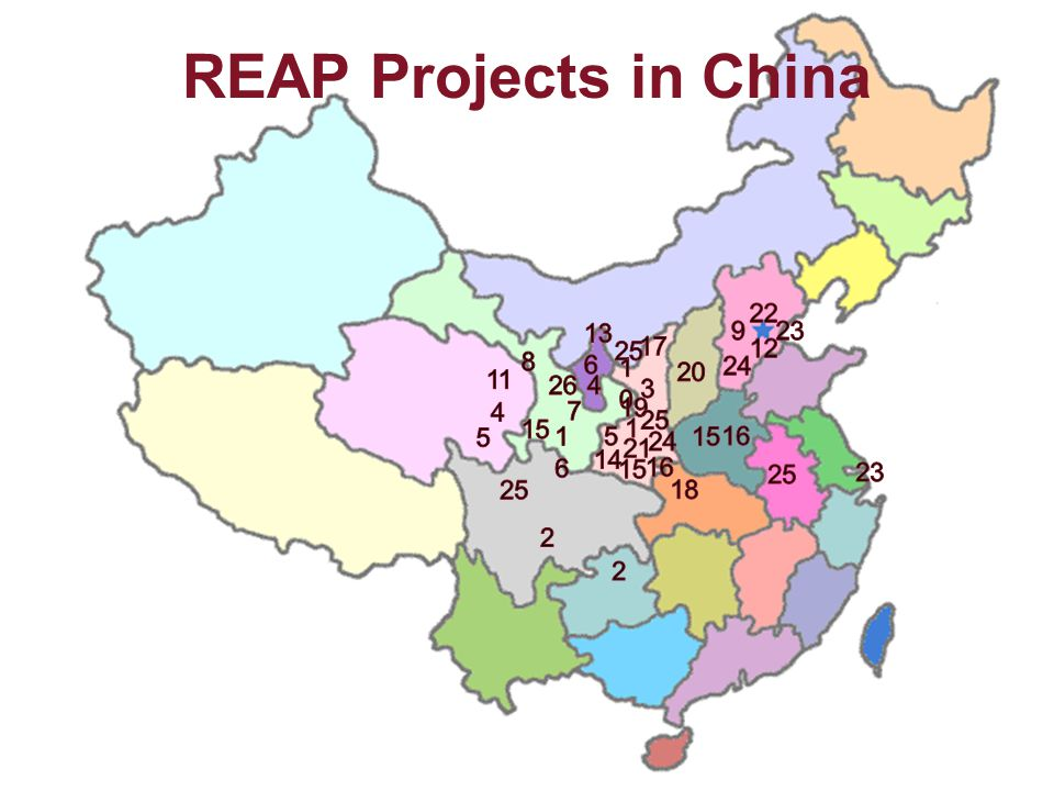REAP Projects in China