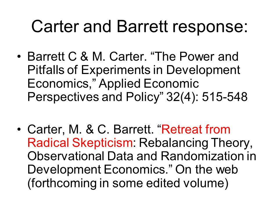 Carter and Barrett response: Barrett C & M. Carter.