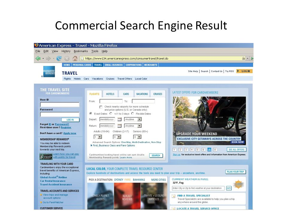 Commercial Search Engine Result
