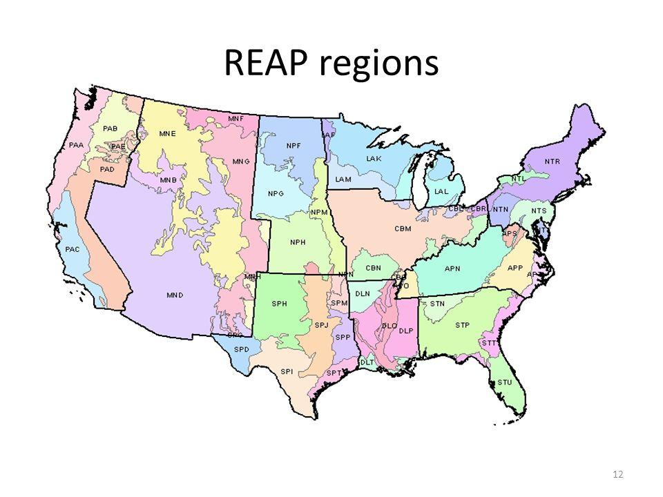 REAP regions 12