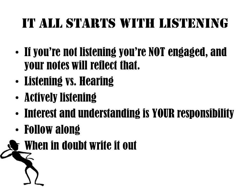10 bad listening habits 1.Calling The Subject Dull 2.Criticizing The Speaker 3.Listening Only For Facts 4.Faking Attention 5.Tolerating Distraction Ask Questions!