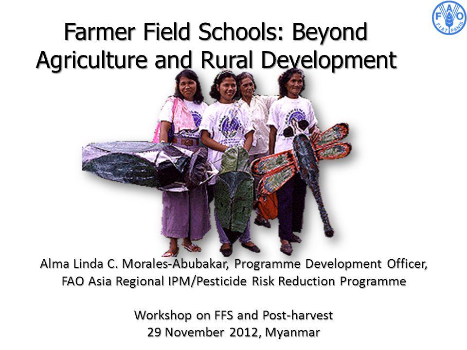 Alma Linda C. Morales-Abubakar, Programme Development Officer, FAO Asia Regional IPM/Pesticide Risk Reduction Programme Workshop on FFS and Post-harve