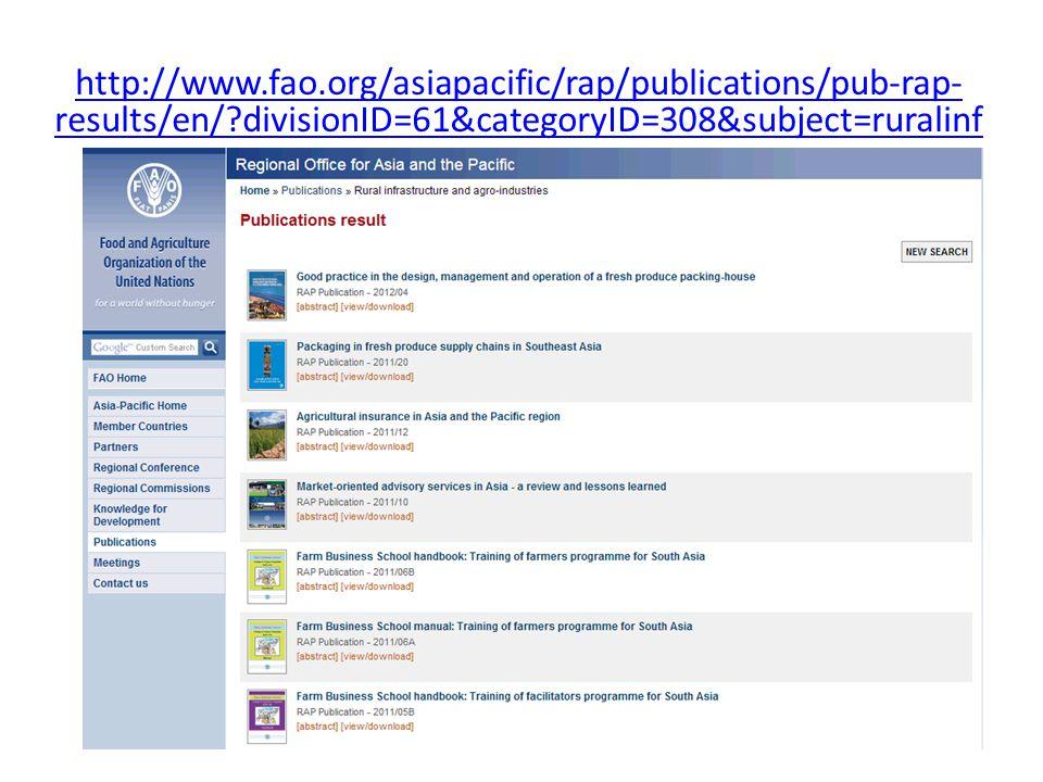 http://www.fao.org/asiapacific/rap/publications/pub-rap- results/en/?divisionID=61&categoryID=308&subject=ruralinf
