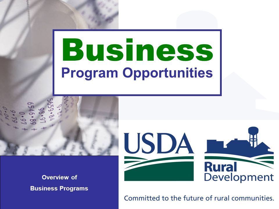 Business Program Opportunities Overview of Business Programs
