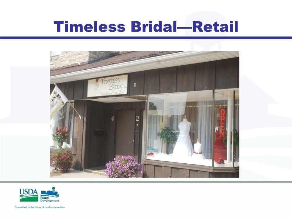 Timeless Bridal—Retail