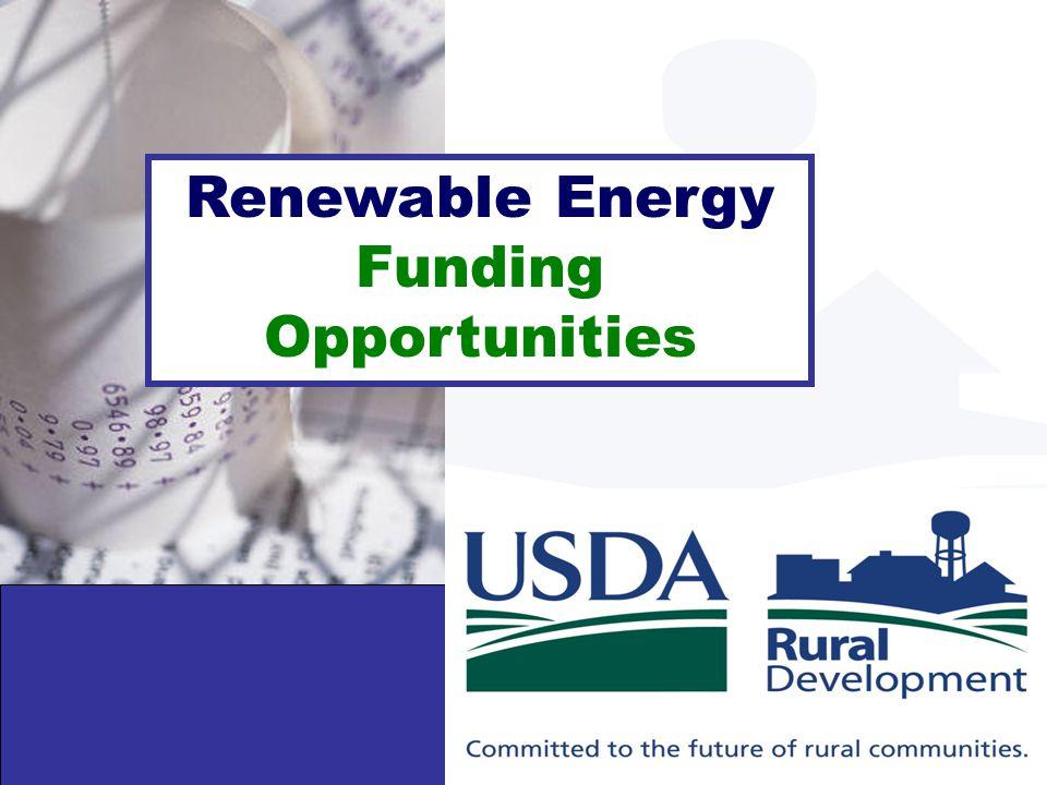 Renewable Energy Funding Opportunities