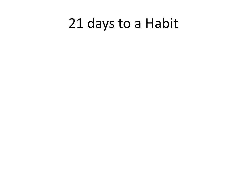 21 days to a Habit