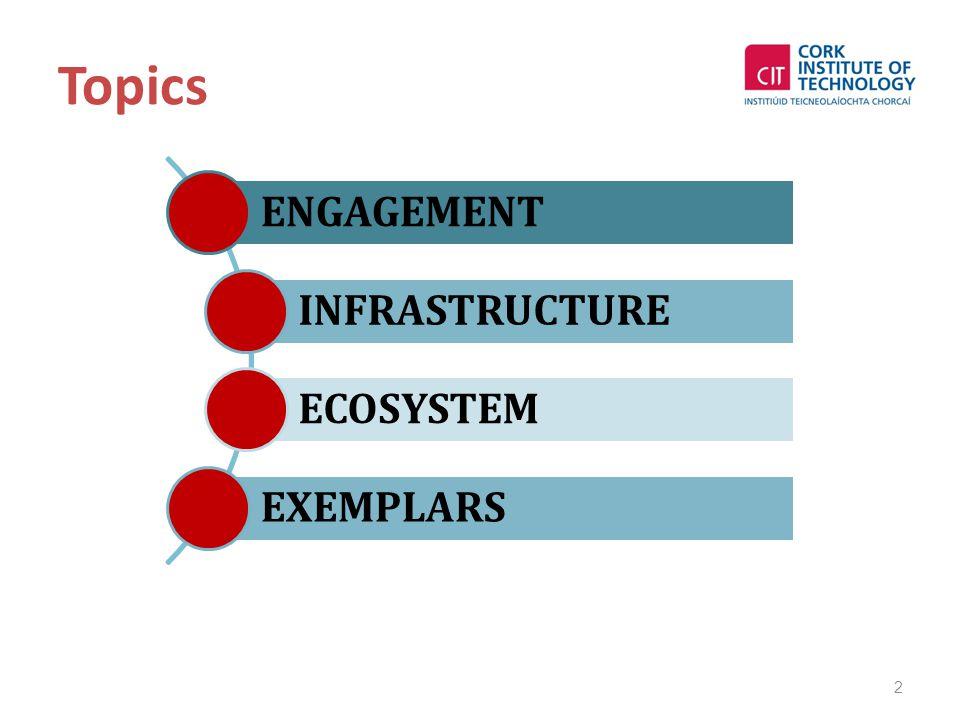 Topics 2 ENGAGEMENT INFRASTRUCTURE ECOSYSTEM EXEMPLARS