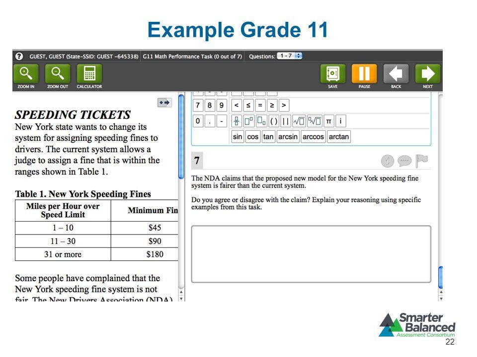 Example Grade 11 22