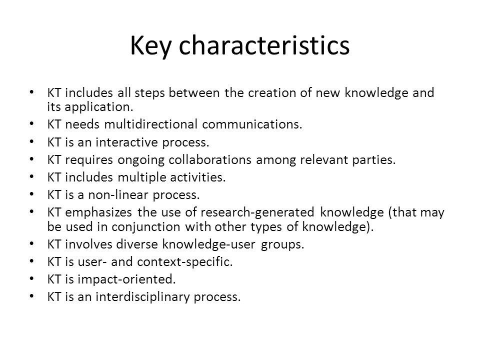 16 Knowledge Translational Model (CIHR, 2005)