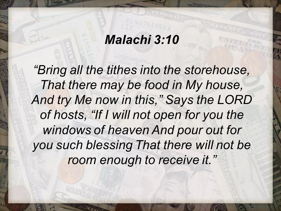 Tithing proves to God that He is first in our lives.