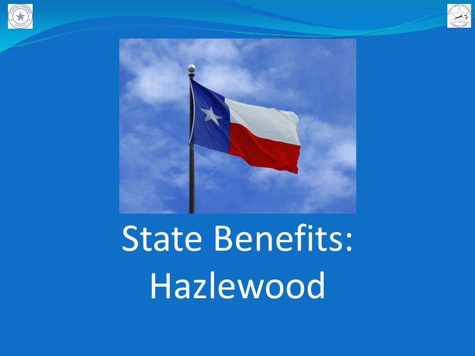 State Benefits: Hazlewood