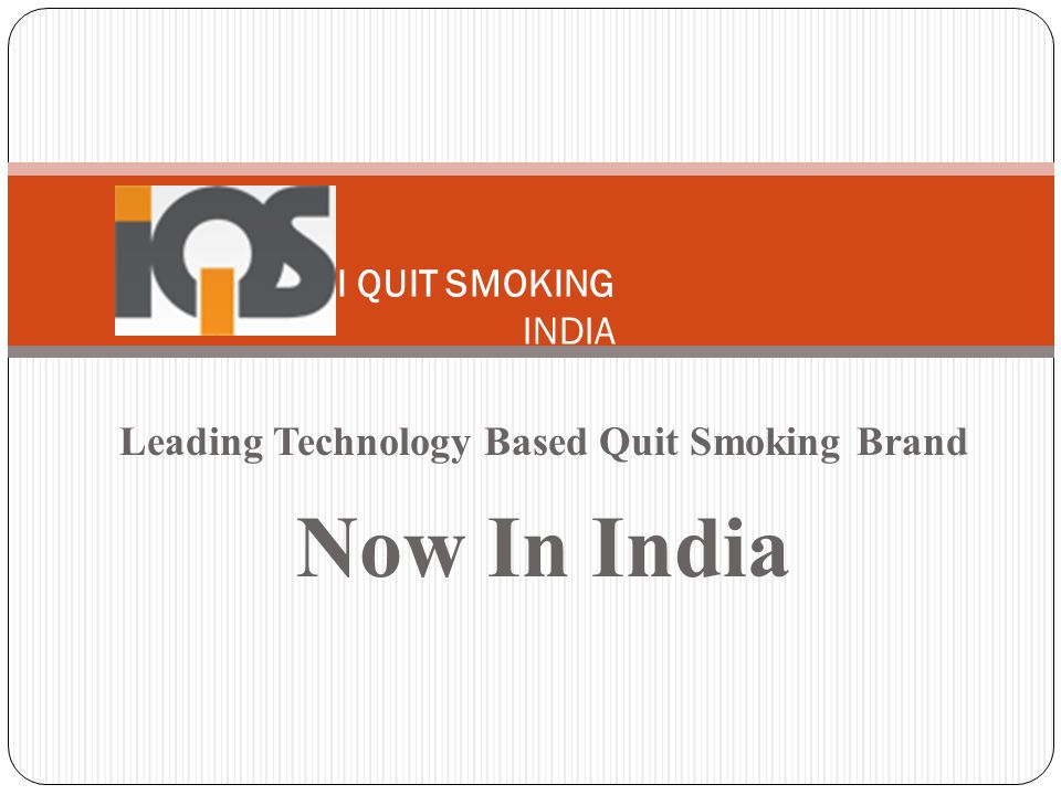 Leading Technology Based Quit Smoking Brand Now In India I QUIT SMOKING INDIA