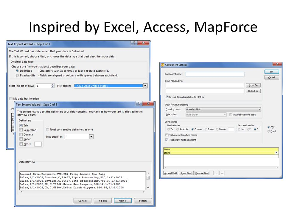 Possible Additional Uses Description and documentation Conversion Storing meta-mappings – Use as source to Altova MapForce for creating MapForce Mappings – command-line map creation