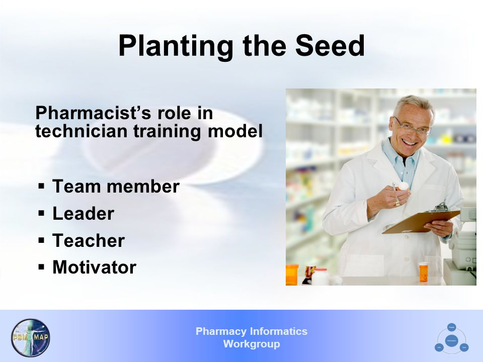 Pharmacy Informatics Workgroup Additional Pharmacy Technician Duties: MED RECONCILIATION NARCOTIC/CONTROLLED SUBSTANCE PURCHASING/PROCUREMENT AUTOMATION CHEMOTHERAPY CALL CENTER COPAY OUTPATIENT/INPATIENT OSTOMY ???????