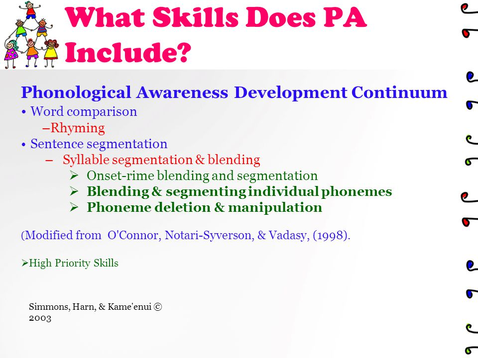 What Skills Does PA Include.