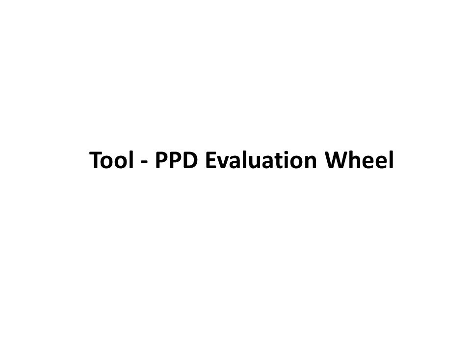 Tool - PPD Evaluation Wheel 10