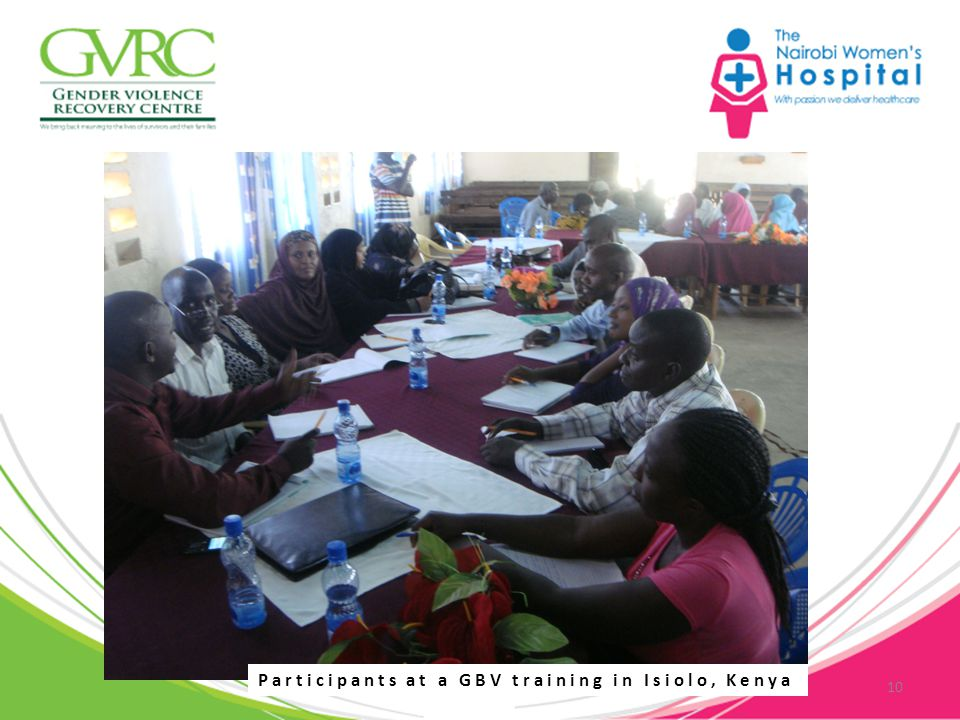10 Participants at a GBV training in Isiolo, Kenya