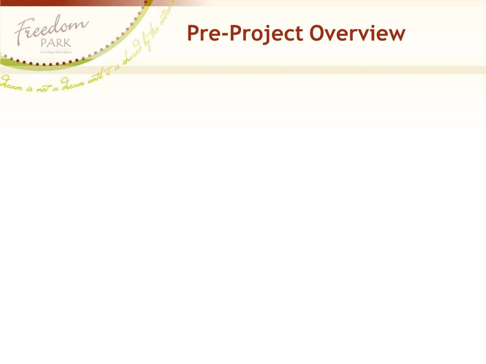 Pre-Project Overview