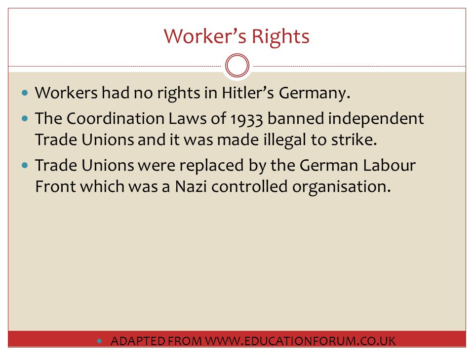 Trade Unions Strikes – the traditional way for the working class to vent their anger over an issue – were banned.