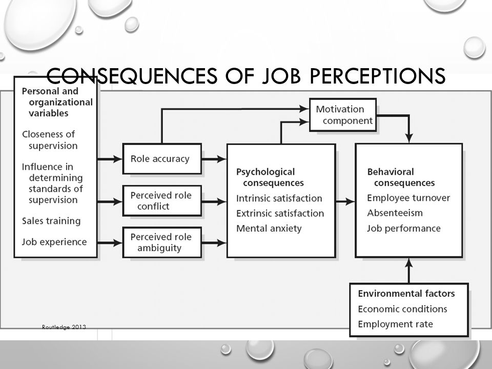 CONSEQUENCES OF JOB PERCEPTIONS Routledge 2013